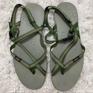Keen La Paz Green Sandals Size 8.5